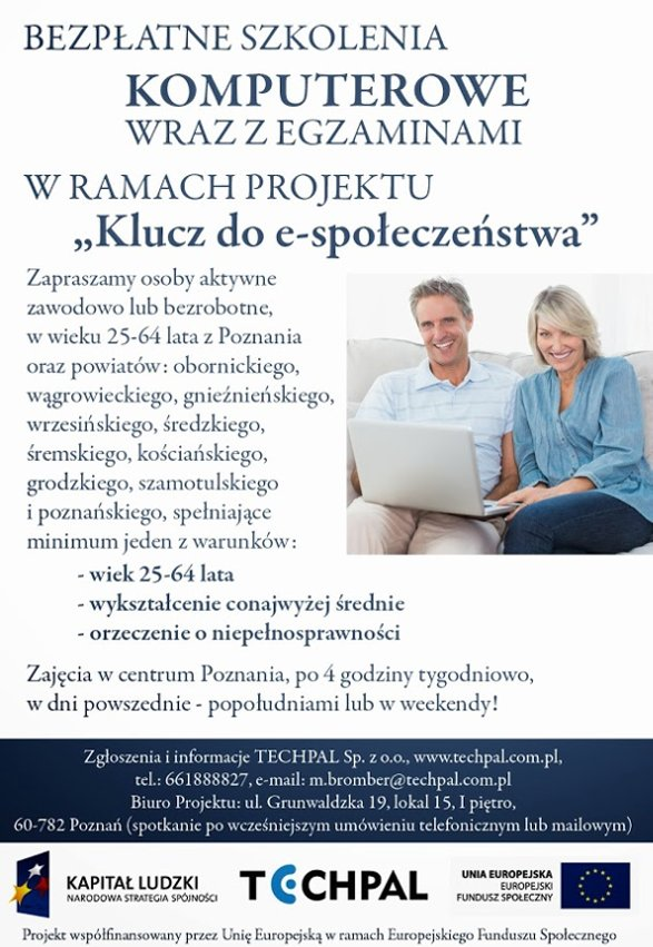 Bezpłatne szkolenia komputerowe (ECDL) wraz z egzaminami